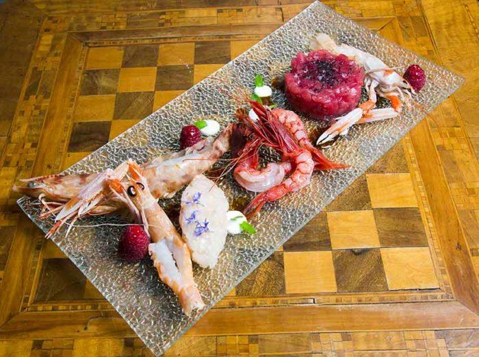 Fish and Shrimp Cruditè